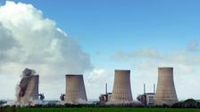 Four cooling towers were demolished at Chapelcross nuclear power station in 2007.