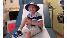 Kian Musgrove in America for cancer treatment