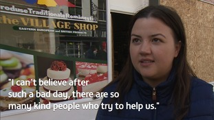 Andreea Abraham runs the shop with her mum