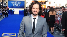 Director Edgar Wright attending the premiere of his film The World's End