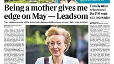 Andrea Leadsom claimed being a mother gives her an 'edge' over Mrs May