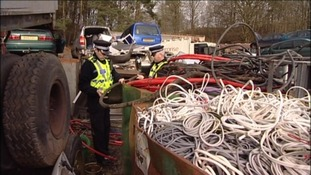 Suspected scrap metal thieves arrested in Workington