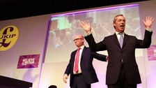 Farage and Nutall at a Ukip event