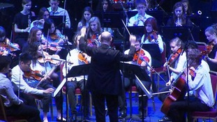 School pupils perform at the Royal Albert Hall.