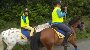 Disabled Dumfries girl begins horse riding challenge