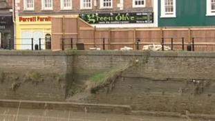 Bridgwater restaurant on dangerous wall