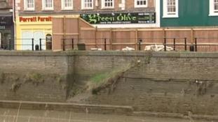 Bridgwater restaurant on dangerous wall