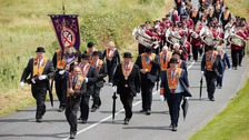 The annual Orange Order parade has taken place in Rossnowlagh, Co Donegal.