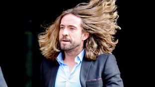Justin Lee Collins pictured leaving St Albans Crown Court yesterday.