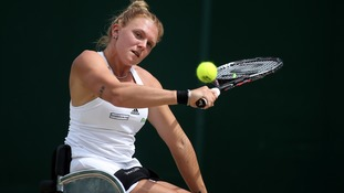 Jordanne Whiley in action.