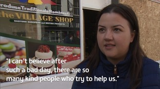 The daughter of the shop owner has thanked the community for their kindness