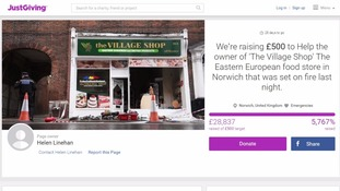 Well-wishers raise nearly £30k for shop hit by 'racist' arson attack