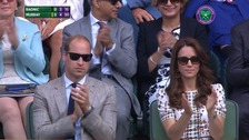 William and Kate cheered on Murray during the game