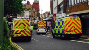 Emergency services at the scene of the bus crash.