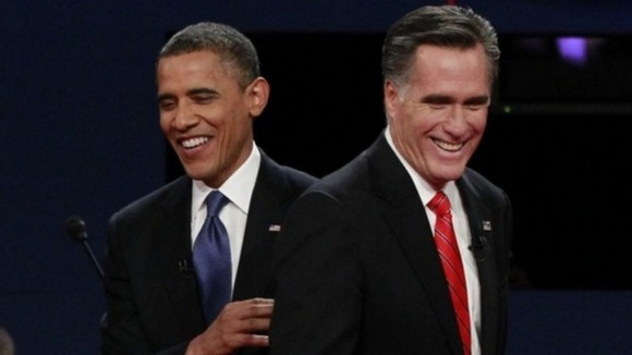 Obama and Romney during their first debate