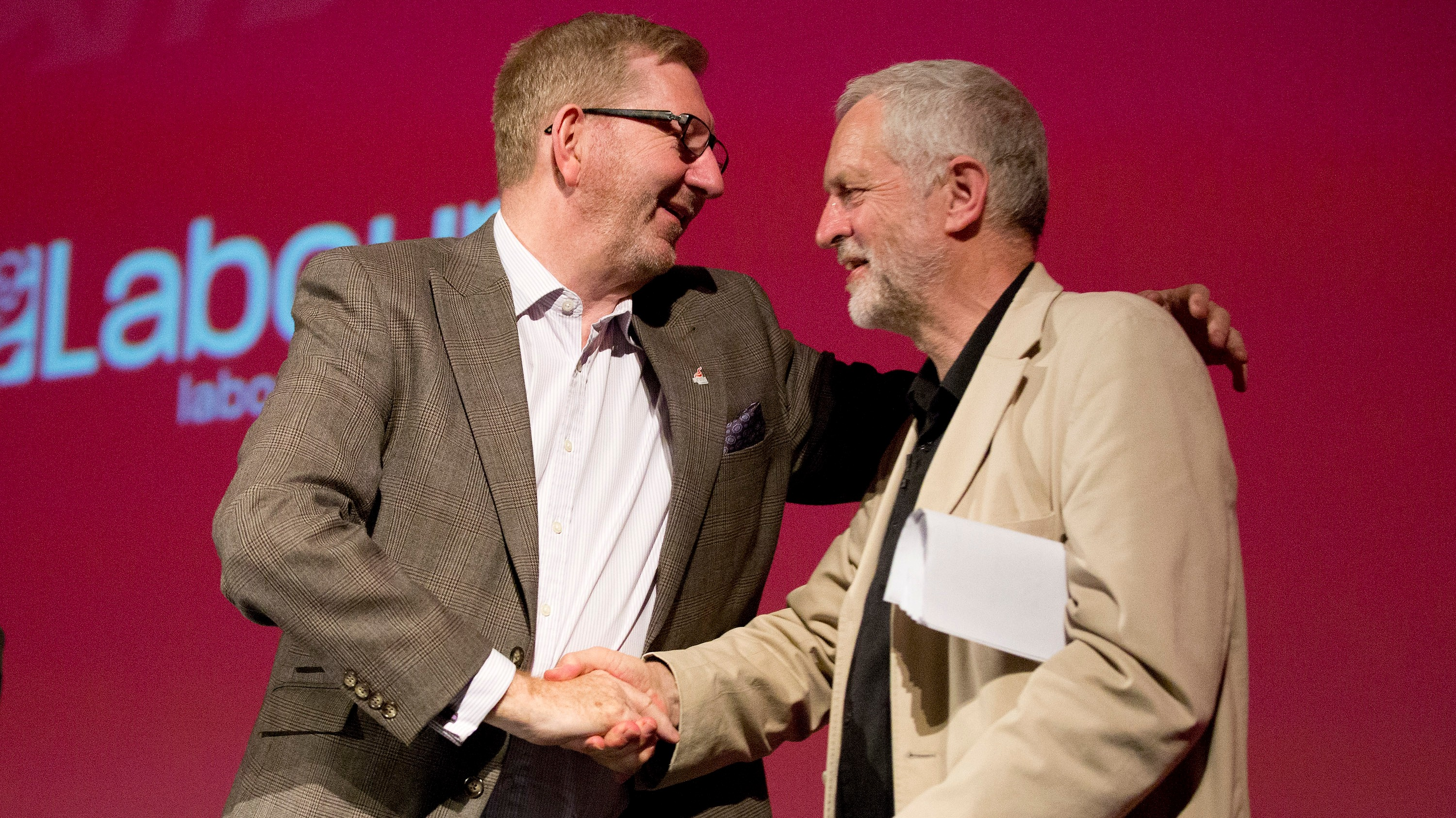 Image result for jeremy corbyn len mccluskey