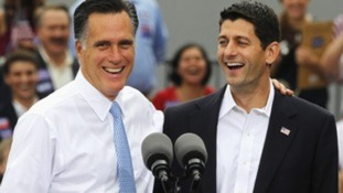 US Presidential candidate with his running mate Paul Ryan