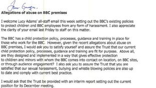 Letter from Lord Patten, chairman of the BBC Trust, to the BBC director general George Entwhistle