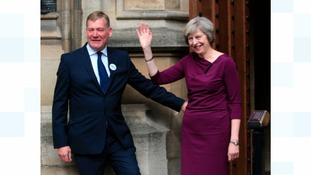 Keighley & Ilkley MP Kris Hopkins with Theresa May