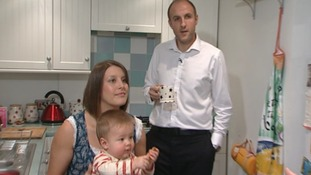James and Sarah live at the rented property with their young son