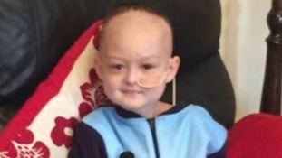 Brave boy is battling cancer for the THIRD time