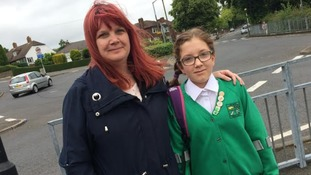 A car ran over an 11-year-old Hannah Wallbank's foot as she was crossing the road to get to Springfield Junior School in Swadlincote.