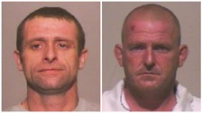 Raymond Brown and Charles Macguire Lamont who have been jailed for life for the murder of David Walsh.