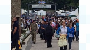 Crowds arrive for the Great Yorkshire Show