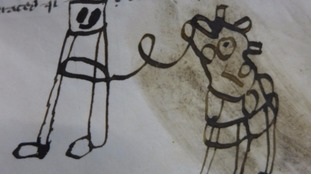 Children's doodles and drawings discovered in medieval manuscript