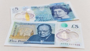 Shoppers in Bury to preview new plastic five pound note