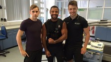 Kell Brook is tested at Sheffield Hallam University