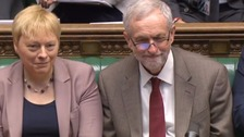 Angela Eagle and Jeremy Corbyn in the House of Commons.