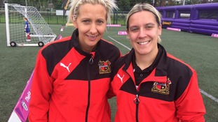 Sheffield Ladies FC players Carla Ward and Claire Wallhead