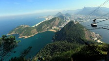 A view of Rio de Janeiro from the top of Sugar Loaf Mountain, Brazil