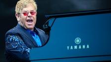 Elton John performing on his Wonderful Crazy Tour