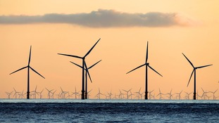 Renewable energy has risen while the UK's greenhouse gas emissions have fallen.
