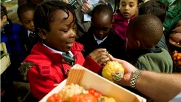 File photo of children involved in the project on a previous visit to Borough Market.