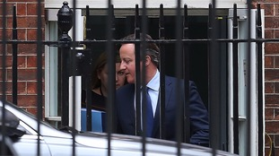 David Cameron leaves his final cabinet meeting at 10 Downing Street