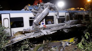 The wreckage was being cleared from the tracks on Wednesday morning.