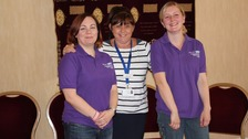 Helen Ferris, specialist midwife infant feeding co-ordinator (centre) with two breastfeeding peer support volunteers