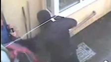 Terrifying moment armed robbers raid jewelers
