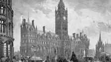 Manchester Town Hall opened in 1877