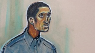A court drawing of Kevin Hutchinson-Foster.