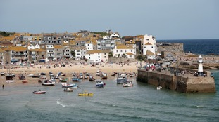 The Cornish fishing village of St Ives.