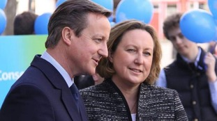 Anne-Marie Trevelyan - the MP for Berwick-upon-Tweed - and David Cameron