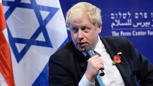 Boris Johnson was on a trade visit to Israel in November 2015.