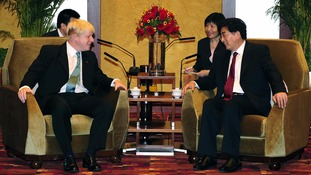 Mayor of London Boris Johnson meets the Mayor of Beijing Guo Jiniong.