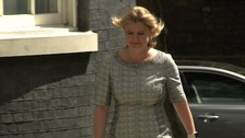 Justine Greening arrives at Number 10