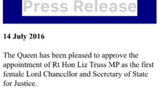 The Queen has officially approved Truss.