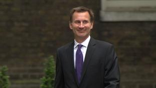 Jeremy Hunt arrived at Downing Street